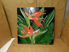 "Bird Of Paradise Wall Plaque, 7 7/8"" x 7 7/8"" (Used/EUC)"