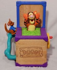 Mattel 2002 Disney Winnie the Pooh Tigger Jack in the Box Roo Kids Toy WORKS!