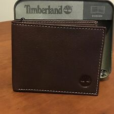 Brand New Timberland Mens Blix Leather Passcase Wallet In Brown D10218/08