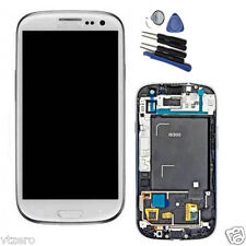 White Samsung Galaxy S3 I9300 LCD Digitizer Touch Screen W/ Frame Replacement