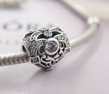 Perfect Gift Genuine Pandora Opulent Heart Orchid Charm 791964CZO