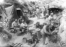 "French Army Field Kitchen Gallipoli Turkey World War 1, 5.5x4"" Reprint Photo 1"