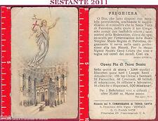 2364 SANTINO HOLY CARD GESù RISORTO OPERA PIA DI TERRA SANTA COME FOTO