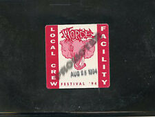 H.O.R.D.E Festival 1994 - backstage pass local crew