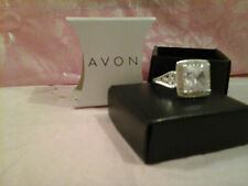 AVON Cz Bling Cocktail Ring - CLEAR - SIZE 9
