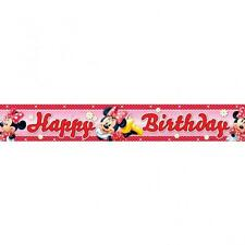 Minnie Mouse Party Happy Birthday Banner Red Polka Dot - 4.65m