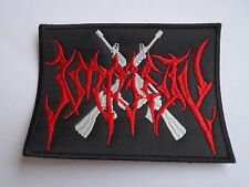 IMPIETY BLACK/THRASH METAL EMBROIDERED PATCH