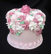 FAKE FOOD -  STUNNING 6 INCH  PINK VICTORIAN CAKE