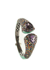 NEW MCL BY MATTHEW CAMPBELL LAURENZA Multicolor Sapphire Cuff Statement Bracelet