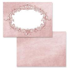 Blank Princess party invitations, wedding invitations - pink - pk of 20