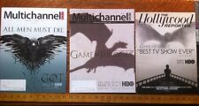 Game of Thrones LOT Of 3 Glossy Industry- media - Emmy Cover Magazines