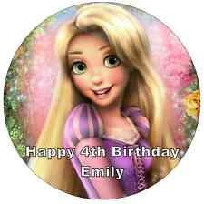 Disney Princess Rapunzel Personalised Cake Topper Edible Wafer Paper 7.5""
