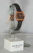 Ladies Radley London Grey Leaf Stitched Leather Rose Gold  Watch -RRP £110.NEW