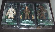 NECA ALIENS SERIES 8 SET of 3 ELLEN RIPLEY WEYLAND-YUTANI COMMANDO & DOG ALIEN