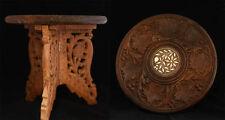 En bois indien incrusté table
