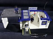 PLAYMOBIL TAKE ALONG POLICE STATION #5917 WITH MOTOR BIKE AND ACTION FIGURES