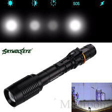 4000LM 18650 CREE XML T6 LED Zoomable Handlampe Taschenlampen Torch Lamp&Charger