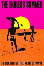 The Endless Summer c. 1966 Surfing Movie Art Poster Print 24X36 (61X91.5cm)