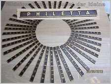 Philips PHILETTA -Schild-Schriftzug-Emblem