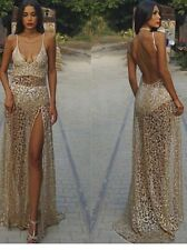 Sheer Gold Glitter Event Dresses Fashion Style Crystal Boutique