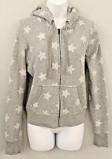 VICTORIA'S SECRET Size Large Women's Long Sleeve Full Zip Grey With Stars Jacket