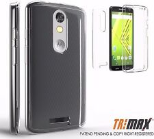 Slim Clear Case Cover Full Body Protective MOTO X Force,Droid Turbo 2 (2015)