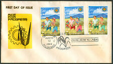 1969 Philippines RICE FOR PROGRESS First Day Cover - A