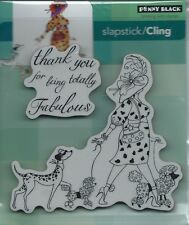 """""""Totally Fabulous"""" Slapstick/Cling Stamp Set by Penny Black"""
