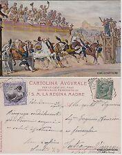 # ROMA: PER LE  CASE DEL PANE -  GARA DEI BERBERI - PARTENZA  1908