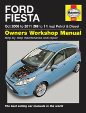HAYNES SERVICE & REPAIR MANUAL FORD FIESTA Oct 2008 - 2011 (58 to 11 reg) 4907