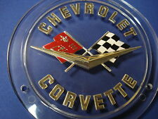 1958-1962 Corvette Front Nose, Rear Trunk Gold  Emblem NCRS Quality NEW USA MADE