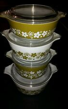4 PYREX SPRING BLOSSOM SET WITH LIDS FREE SHIPPING