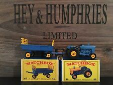 matchbox 2x regular wheels no.39c-3.Rare Blue Version +40c-1 mint E-3/4 Box 1967