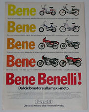 Advert Pubblicità 1979 BENELLI 504 SPORT 900 SEI 125 SPORT 254 MAGNUM 3V EXPORT