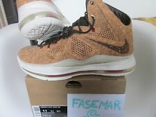 NIKE LEBRON X EXT CORK QS 580890 200 SZ11US2013 DS RARE JORDAN COLLECTOR