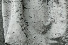 Steel/Silver Marble velour crushed velvet extra wide fabric sold by the metre