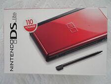 Original Nintendo Brand DS Lite Console (Red/Black) - NEW