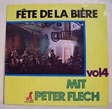"""33T Mit Peter FLECH Disque LP 12"""" FETE DE LA BIERE Chansons a Boire AFA 20762"""