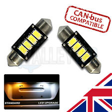 Transporter T5 03-on STRONG Canbus Bright White LED Number Plate 36mm Bulbs