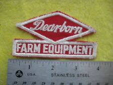 Vintage Dearborn Farm Equipment Service Dealer Uniform Patch