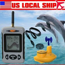 Lucky FFW718 Portable Sensor Wireless Fish Finder with White LED Back lighting