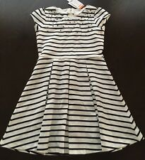NWT Gymboree City Kitty Size 10 Black and White Striped Sequins Dress