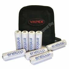 8x Panasonic AA ENELOOP batteries & quality fabric wallet The latest generation