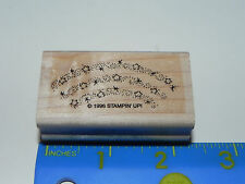 Stampin Up 1 Rubber Stamp Stars Sparkle Rainbow (1 Stamp from Dreams & Dragons)