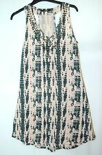 LIGHT PINK BEIGE BLACK ANIMAL PRINT LADIES CASUAL PARTY VEST SIZE 10/38 GEORGE