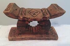 African Hand Carved Ashanti Stool - Made In Ghana, Africa 1998