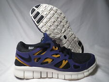 NIKE FREE RUN + 2 EXT BLACK/PURPLE/GOLD WOMENS SHOES SIZE 5.5