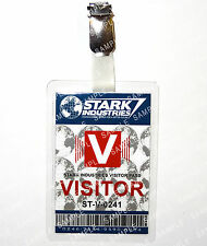 Tony Stark Industries Visitor ID Badge Iron Man Avengers Cosplay Christmas