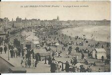 CPA 85 - LOS SABLES-dOlonneOlonne - Postal- La playa con marea altas