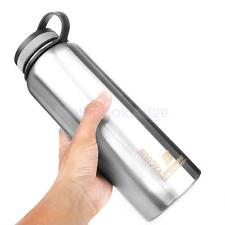 Stainless Steel Wide Mouth Water Bottle 32 oz Loop Cap BPA Free Vacuum Insulated